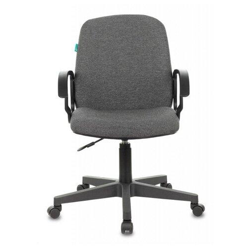 Компьютерное кресло Бюрократ CH-808-LOW офисное, обивка: текстиль, цвет: серый 3С1 на пиастре недорого