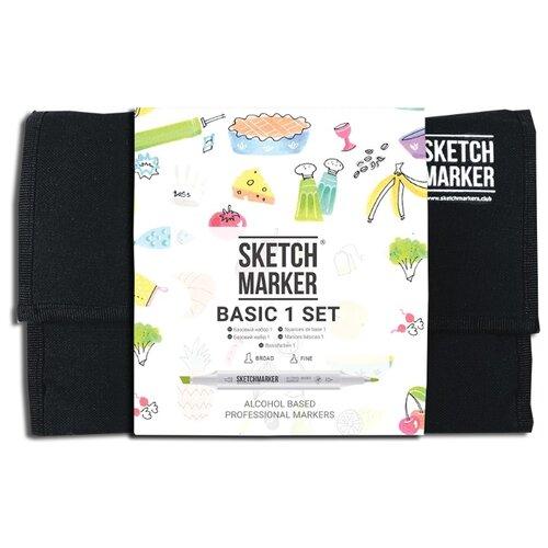 Купить SketchMarker Набор маркеров Basic 1 Set, 24 шт., Фломастеры и маркеры