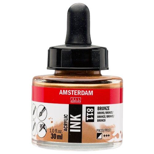 Купить Чернила акриловые Amsterdam 30мл №811 Бронзовый new, Royal Talens, Стержни, чернила для ручек