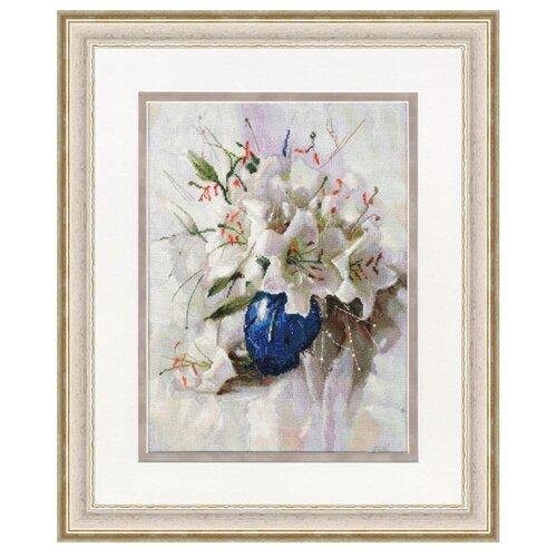 Купить Золотое Руно Набор для вышивания Белые лилии 37, 2 х 28 см (СЖ-056), Наборы для вышивания