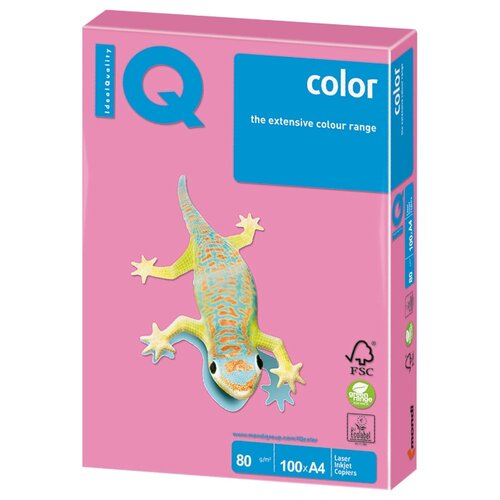 Фото - Бумага IQ color A4 NEOPI 80 г/м² 100 лист. розовый неон 1 шт. бумага a4 250 шт iq color cr20 кремовый 1 шт
