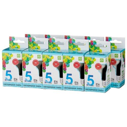 Упаковка светодиодных ламп 10 шт ASD LED-STD 4000К, E14, R50, 5Вт упаковка светодиодных ламп 10 шт gauss 13626 gu10 r50 5 5вт