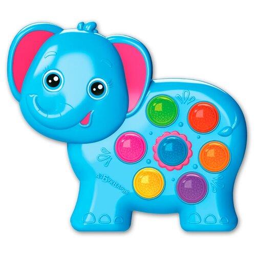 Фото - Развивающая игрушка Азбукварик Веселушки Слоненок голубой roxy kids rbt20014 игрушка развивающая слоненок сквикер пищалка внутри размер 18 см