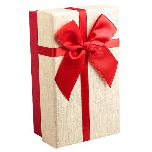 Коробка подарочная Yiwu Zhousima Crafts с бантом 15 х 6 х 9 см белый