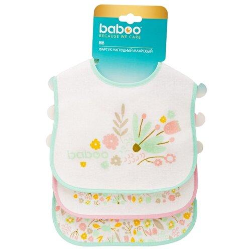 Фото - Baboo 11-002, 3 шт., расцветка: цветы/розовый/зеленый/белый поильник baboo flora 8 104 розовый