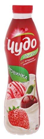 Питьевой йогурт Чудо ягодное мороженое 2.4%, 270 г — цены на Яндекс.Маркете