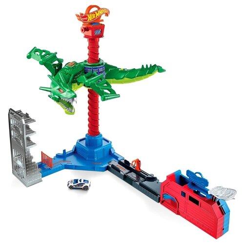Игровой набор Mattel Hot Wheels Сити Воздушная атака дракона-робота GJL13 машины mattel hot wheels сити игровой набор шиномонтажная мастерская