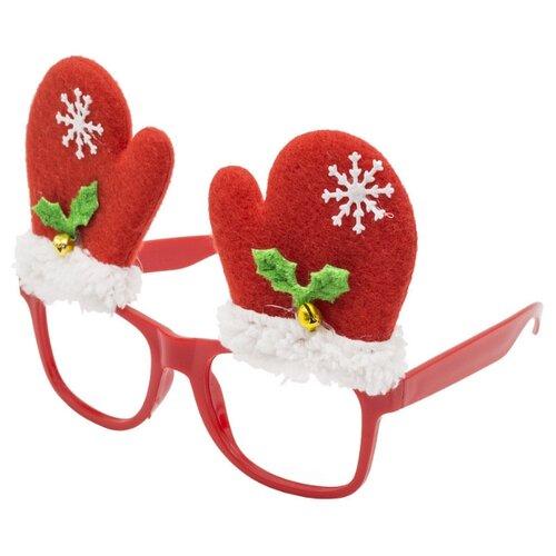 Очки Winter Wings Карнавальные (N02578), красный карнавальные очки пират magic home карнавальные очки пират