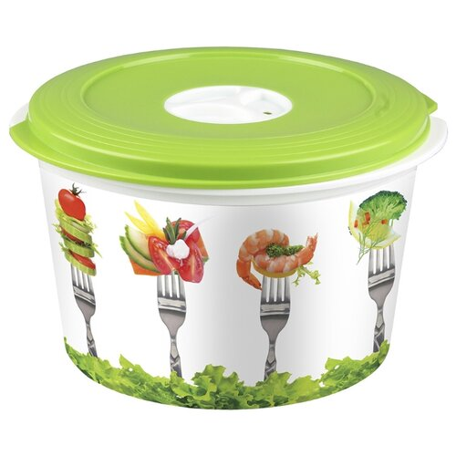 Phibo Емкость для холодильника и микроволновой печи с декором 2л декор