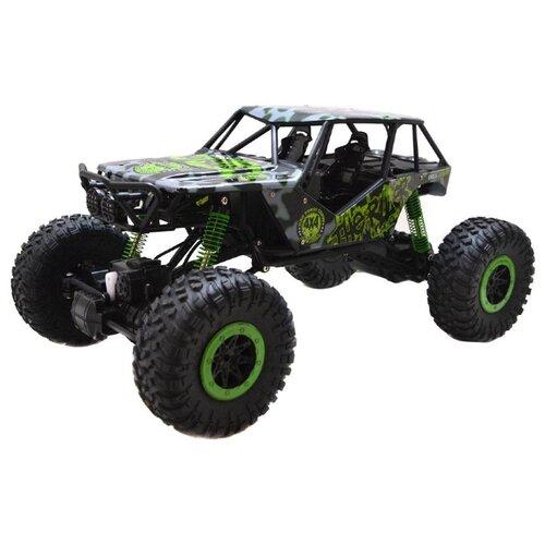 Купить Внедорожник HuangBo Toys Rock Crawler (HB-P1001/02/03) 1:10 43 см черный/зеленый, Радиоуправляемые игрушки