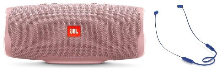 Портативная акустика JBL Charge 4 + наушники T110BT pink