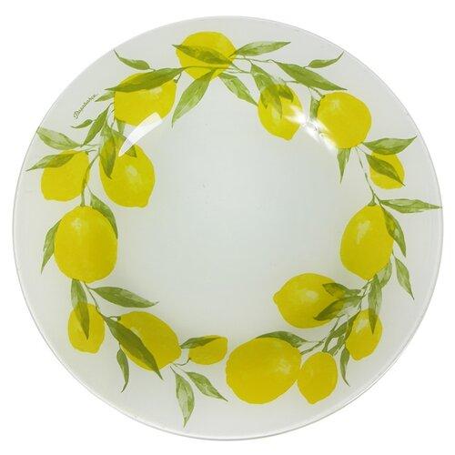 Pasabahce Тарелка обеденная Lemon 26 см белый/желтый тарелка pasabahce бохо цвет зеленый диаметр 26 см