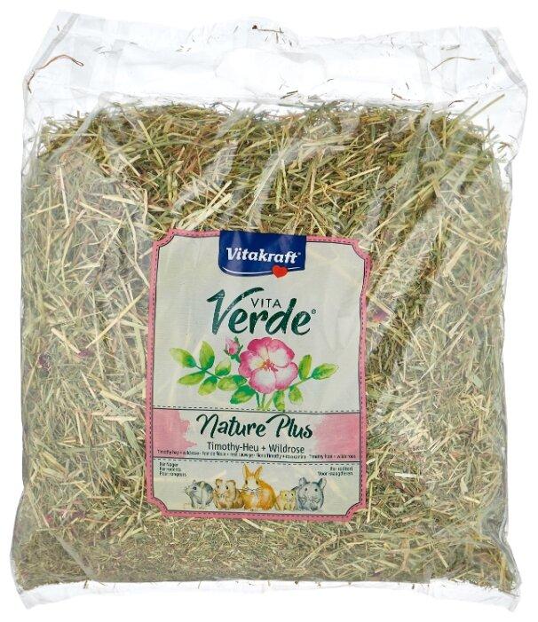 Сено Vitakraft VITA VERDE луговое с цветами шиповника 0.5 кг