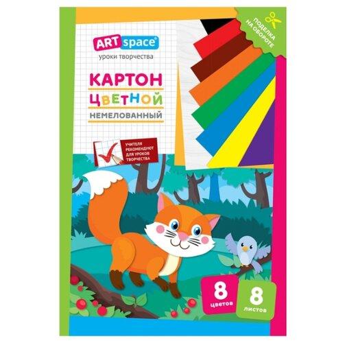 Цветной картон Лисичка ArtSpace, А4, 8 л., 8 цв. action картон action бабочки цветной а4 8 цв 8 л