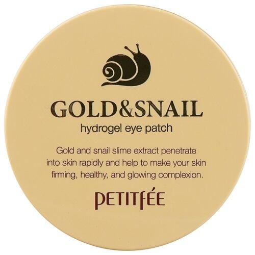 Petitfee Гидрогелевые патчи для век с золотыми частицами и фильтратом муцина улитки Gold & Snail hydrogel eye patch (60 шт.) гидрогелевые патчи petitfee