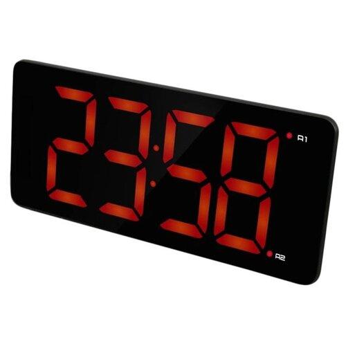 Часы настольные BVItech BV-475 черный/красный
