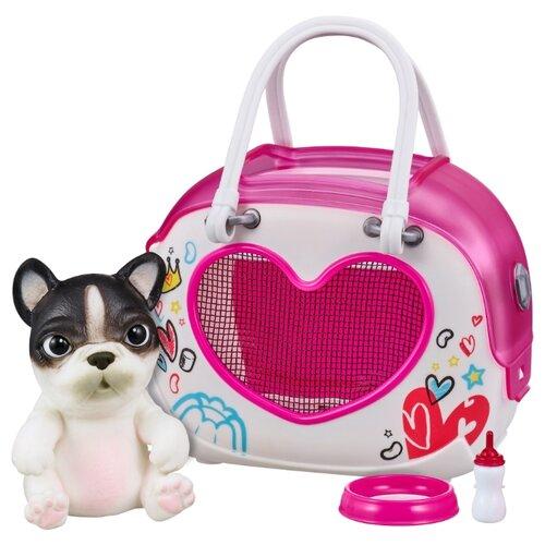 Купить Робот Moose Little Live OMG Pets сквиши-щенок Французский бульдог в переноске 28942 французский бульдог, Роботы и трансформеры