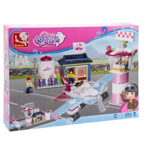 Купить Конструктор SLUBAN Розовая мечта M38-B0608 Маленький аэропорт, Конструкторы