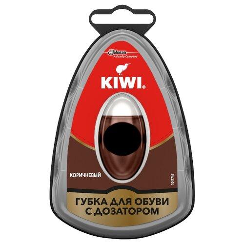 Kiwi Губка с дозатором Express Shine коричневый губка для обуви kiwi express shine с дозатором цвет коричневый 7 мл
