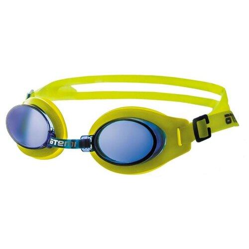 Фото - Очки для плавания ATEMI S102 желтый/синий очки маска для плавания atemi z401 z402 синий серый