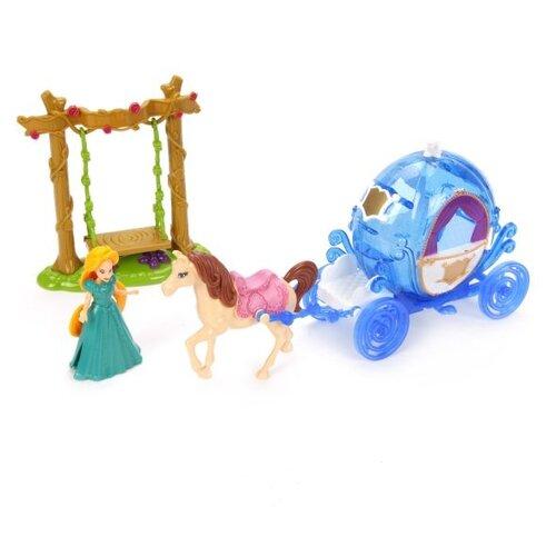 Купить Набор Shantou Gepai Карета каникулы принцессы, 9 см, SS027A, Куклы и пупсы