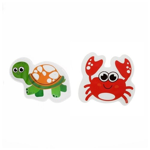 Купить Набор для ванной Крошка Я Крабик и черепашка (3045307) красный/зеленый, Игрушки для ванной