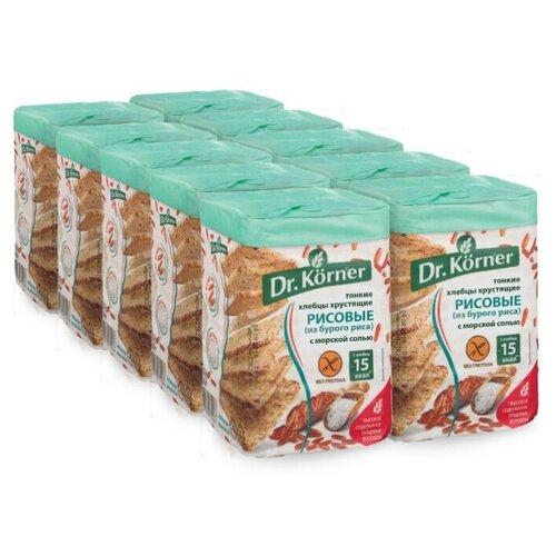 Хлебцы рисовые Dr. Korner с морской солью 10 шт по 100 г