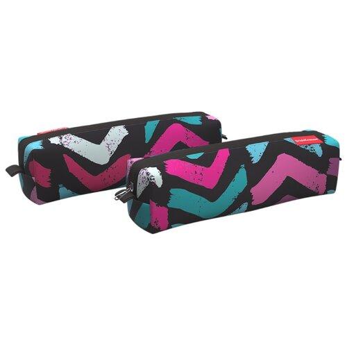 Купить ErichKrause Пенал квадро mini Color Corners (48969) черный/голубой/розовый, Пеналы