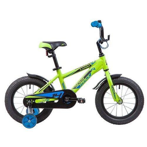 Фото - Детский велосипед Novatrack Lumen 14 (2019) зеленый (требует финальной сборки) детский велосипед novatrack twist 20 2020 зеленый требует финальной сборки