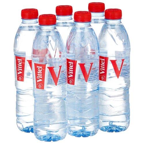 Минеральная вода Vittel негазированная, ПЭТ, 6 шт. по 0.5 л