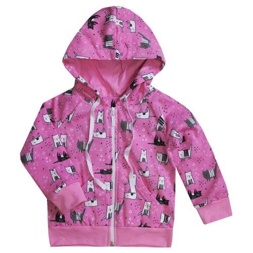 Купить Толстовка KotMarKot размер 92, розовый, Джемперы и толстовки