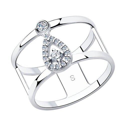 SOKOLOV Кольцо из серебра с фианитами 94013051, размер 17