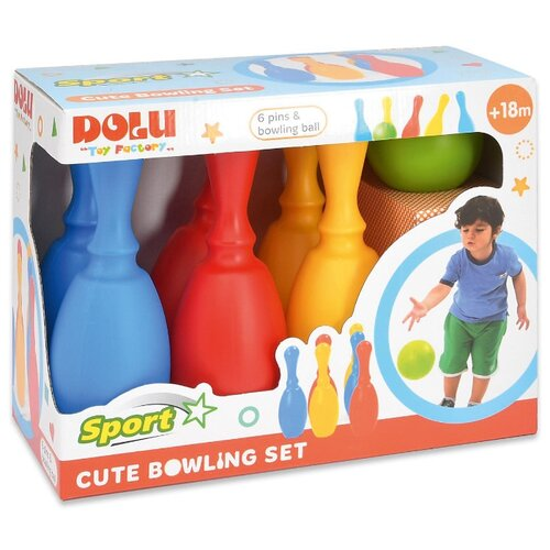 Купить Миленький набор Dolu боулинг из 6 кеглей и 1 шаром (DL_6171), Спортивные игры и игрушки