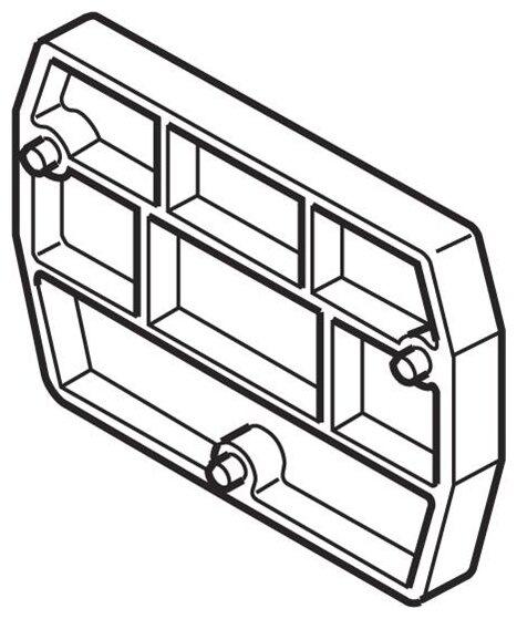 Торцевая и разделительная пластина (изолятор) для клеммного блока ABB 1SNA291311R2300