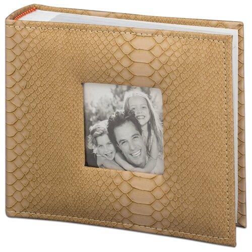 цена на Фотоальбом BRAUBERG под кожу рептилии 390694, 100 фото, для формата 10 х 15, бежевый