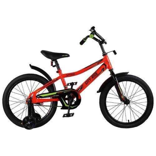 Детский велосипед CITY-RIDE Spark 18 (CR-B2-0218) красный (требует финальной сборки)