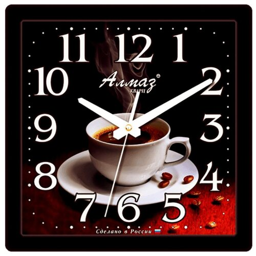 Часы настенные кварцевые Алмаз K37 черный