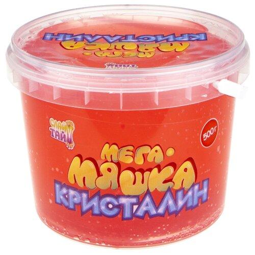 Купить Лизун 1 TOY Мега-Мяшка Кристалин красный, Игрушки-антистресс