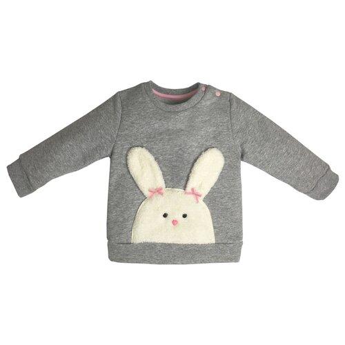 Купить Свитшот Sonia Kids размер 80, серый/белый/розовый, Джемперы и толстовки