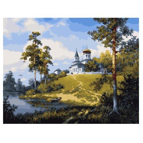Купить ВанГогВоМне Картина по номерам Церковь у реки , 40х50 см (ZX 10113), Картины по номерам и контурам