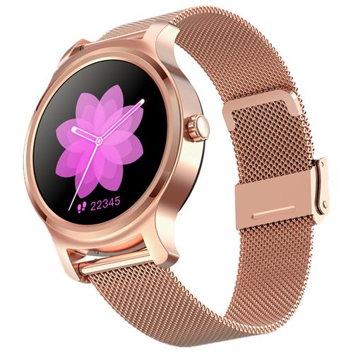 детские умные часы zdk q360 голубой Умные часы ZDK R2 (metal), розовое золото