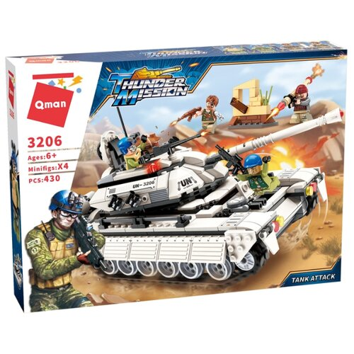Купить Конструктор Qman Thunder Mission 3206 Танковая атака, Конструкторы