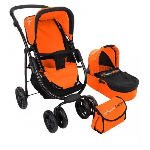 Купить Коляска-трансформер Buggy Boom Amidea (9000) оранжевый/черный, Коляски для кукол