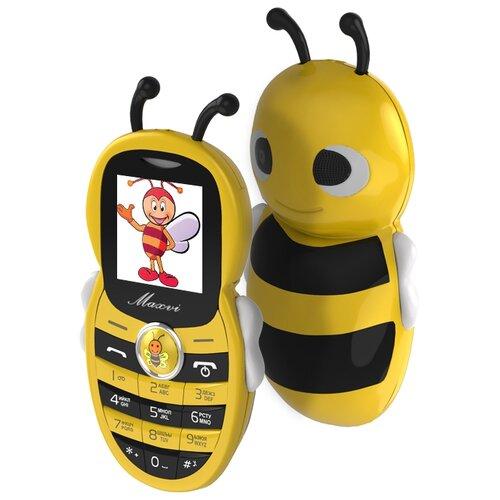 Телефон MAXVI J8 желтый телефон