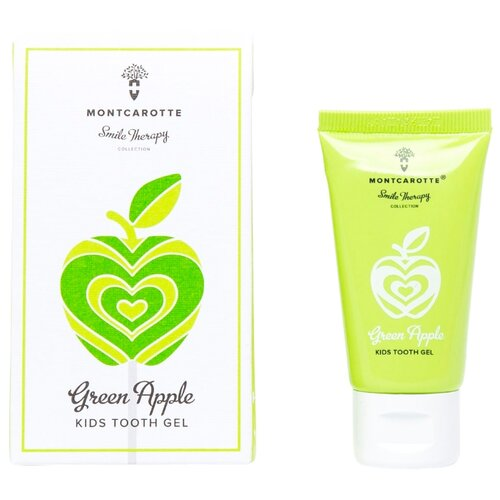 Купить Зубной гель Montcarotte Green Apple Kids Tooth Gel 0+, 30 мл, Гигиена полости рта