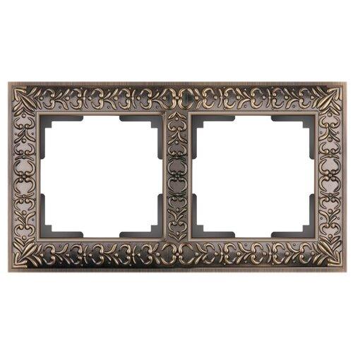 Фото - Рамка 2п WerkelWL07-Frame-02, бронза/чёрный рамка werkel antik бронза wl07 frame 02