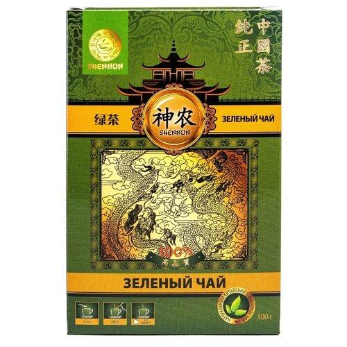 Чай зеленый Shennun, 100 г shennun чай зеленый листовой 100 г