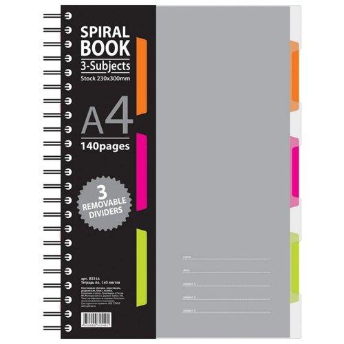 Купить Attache SELECTION Бизнес-тетрадь Spiral Book A4, клетка, 140 л., Тетради