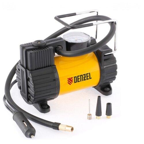 Автомобильный компрессор Denzel 58055 желтый/черный фото