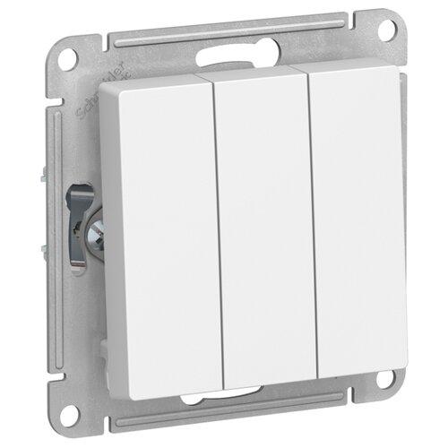 Выключатель 3х1-полюсный Schneider Electric ATN000131 AtlasDesign, 10 А, белый выключатель 1 полюсный schneider electric atn000211 atlasdesign 10 а бежевый